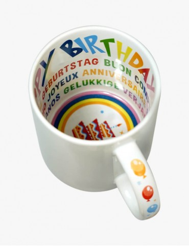 Cană Interior Imprimat - Happy Birthday