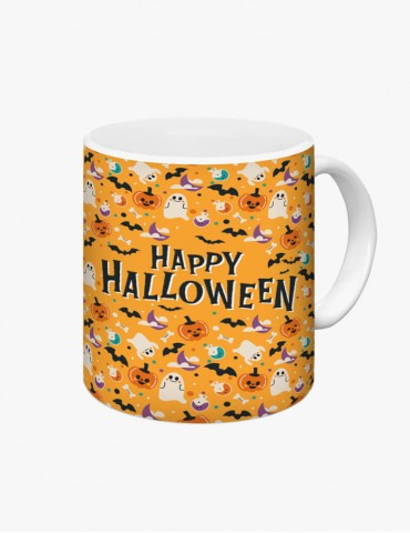 Happy Halloween Model 1 - Cana Albă