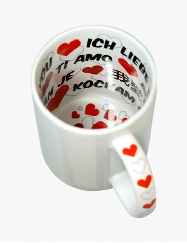 Cană Interior Imprimat - I love you