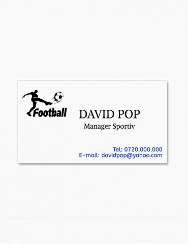 Carti de Vizita 100 buc. - Model Fotbal