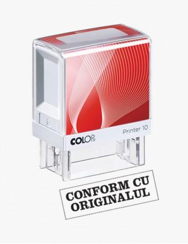 """Stampila Colop Printer 10 """"CONFORM CU ORIGINALUL"""" - 27X10 mm"""