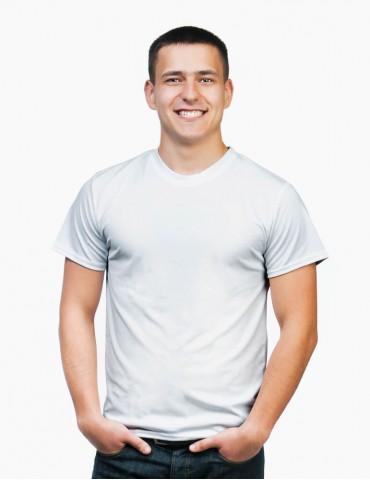 Tricou personalizat barbat - alb, cu livrare rapida in toata Romania  | Imprinto