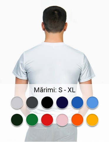 Tricou personalizat barbat - alb, fata verso, cu livrare rapida in toata Romania  | Imprinto