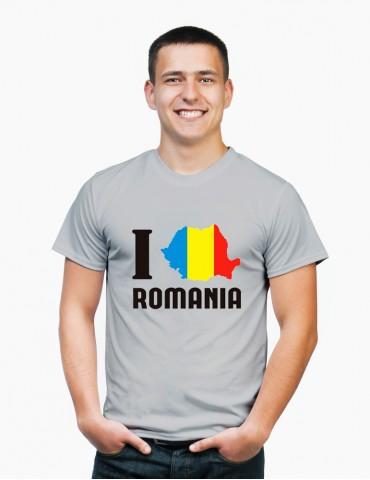 Tricou Barbat Colorat - I Love Romania