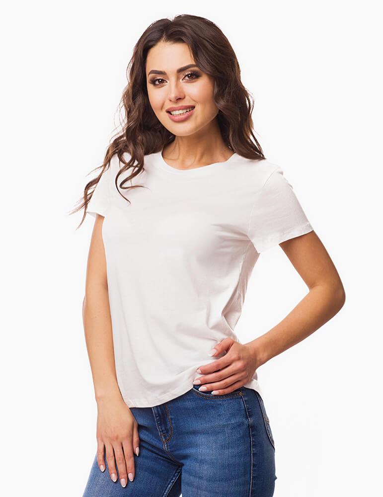 Tricou personalizat dama - alb, cu livrare rapida in toata Romania  | Imprinto