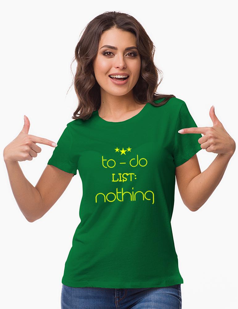 Tricou Dama - Model TO DO LIST