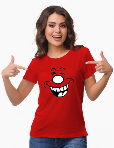 Tricou Dama Colorat - Model Funny Face
