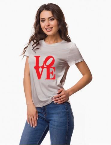 LOVE - Tricou personalizat dama cu model